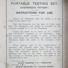 Megger Portable Testing Set