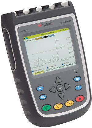 Megger MPQ1000 Handheld Power Quality Analyser